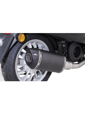 SCOOTER RSC, complete system no cat. no heat shield, carbon, 65mm, without EC approval