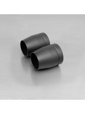 "endcap ""Tapered"" (2 Stk.) stainless steel, black"