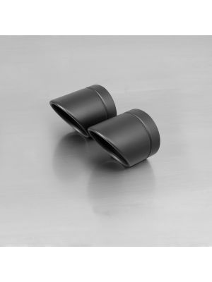 """endcap """"Rolled Up"""" (2 Stk.) stainless steel, black"""